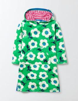 Summer Green Surf Floral Towelling Beach Dress