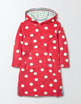 Raspberry Whip Confetti Spot Towelling Beach Dress