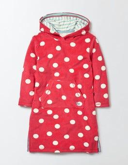 Raspberry Whip Confetti Spot Towelling Beach Dress