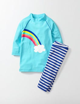 Light Blue Rainbow Surf Suit
