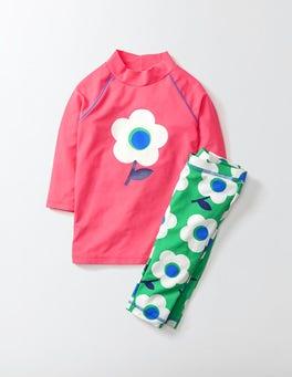 Pomegranate Flower Surf Suit