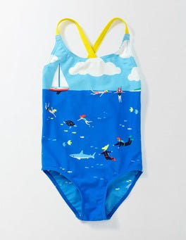 Pool Blue Underwater Explorers Fun Swimsuit