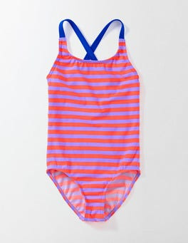 Purple/Neon Stripe Fun Swimsuit