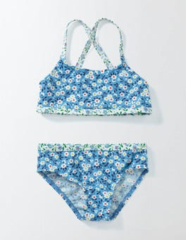Bright Bluebell Spring Daisy Into-the-Sea Bikini