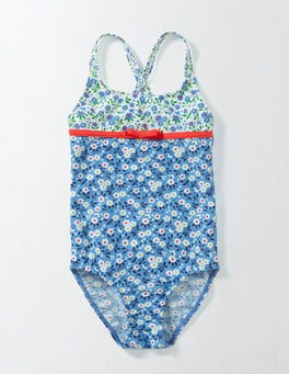 Bright Bluebell Spring Daisy Hotchpotch Swimsuit