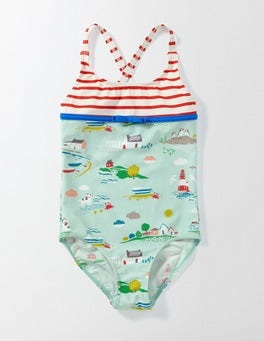 Azure Mist Coastal Town Hotchpotch Swimsuit
