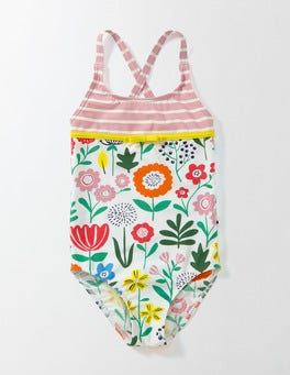 Multi Wallpaper Floral Hotchpotch Swimsuit
