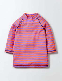 Light Purple/Neon Stripe Fun Rash Vest
