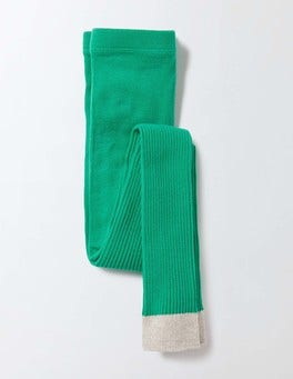 Wasabi Green Ribbed Footless Tights
