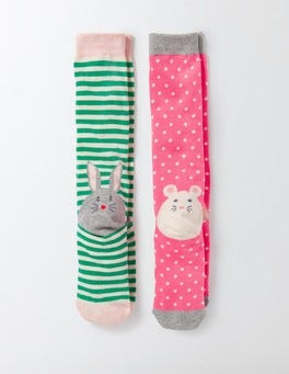 Novelty Animal Heel 2 Pack Knee Socks