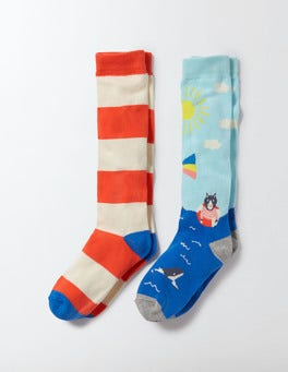 Coastal Scene 2 Pack Knee Socks