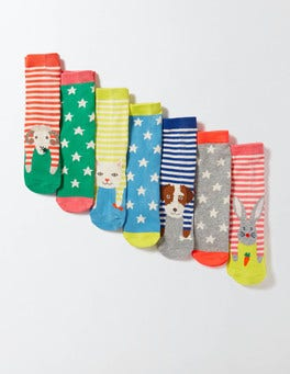 Animal/Star Pack 7 Pack Sock Box