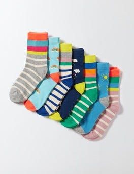 Rainbow/Stripe Pack 7 Pack Sock Box