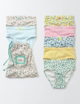 Spring Daisy/Stripe Pack 7 Pack Pants
