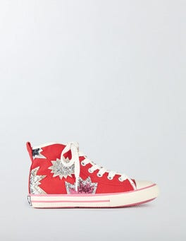 Summer Poppy Appliqué High Tops