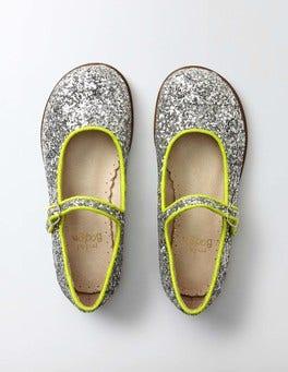 Silver Glitter Fun Mary Janes
