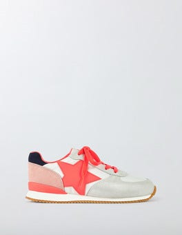 Fluoro Coral Suede Sneakers