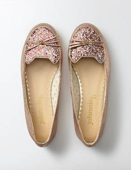 Rose Gold Cat Ballet Flat