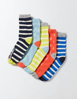 Nautical 5 Pack Socks