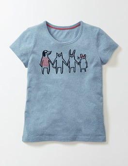 Malin Blue Marl Friends Juliette T-Shirt