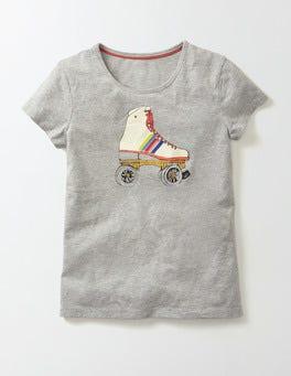 Grey Marl Rollerboot Sportswear T-Shirt