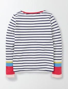 Ivory/Starboard Stripe Fun Breton