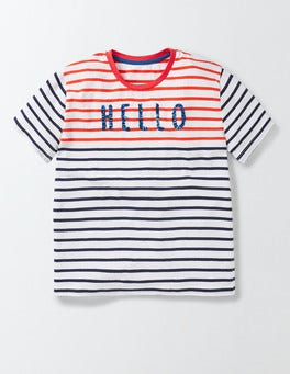 Rosehip/Starboard Stripe Nadia T-Shirt