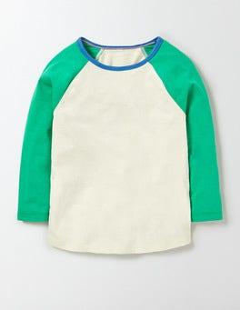 Mini Ecru/Astro Green Raglan T-Shirt