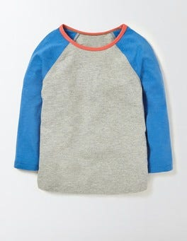 Grey Marl/Skipper Raglan T-Shirt