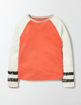 Mini Ecru/Coral Crush Jocelyn T-shirt