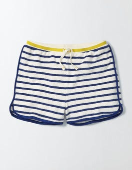Ivory/Starboard Stripe Towelling Shorts