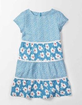 Bright Bluebell Poppy Ditsy Audrey Dress