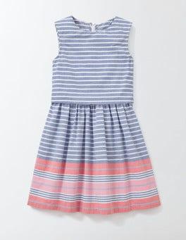 Klein Blue/Rosehip Stripe Iris Dress
