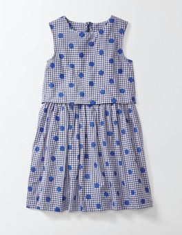 Gingham/Printed Spot Iris Dress