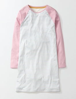 Ivory/Bright Bluebell Stripe Baseball Nightie