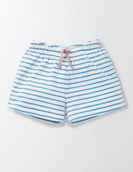 Ivory/Bright Bluebell Stripe PJ Shorts