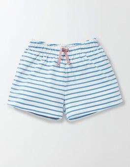 Ivory/Bright Bluebell Stripe PJ Shorts