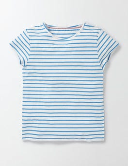 Ivory/ Bright Bluebell Stripe PJ T-Shirt