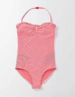 Raspberry/Ivory Seersucker Pretty Swimsuit