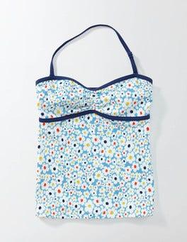 Bright Bluebell Daisy Tankini Top