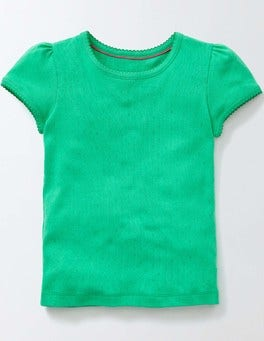 Mint Short Sleeve Pointelle T-shirt
