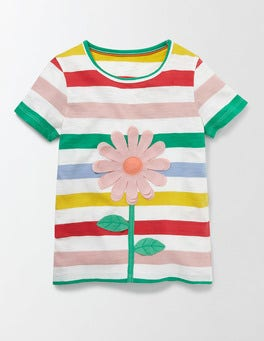 Rainbow Flower Sunny Adventure T-shirt