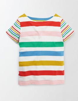 Rainbow Stripe Summer Hotchpotch T-Shirt