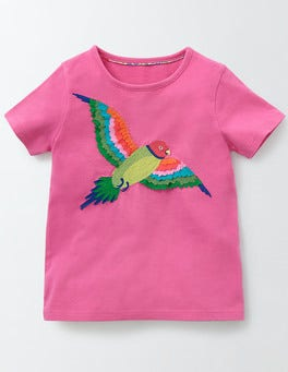 Mid Pink Parakeet Animal T-shirt