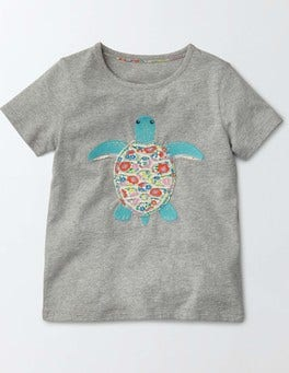 Silver Marl Seaturtle Animal T-shirt