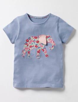 Bluebell Elephant Jungle Patchwork T-shirt
