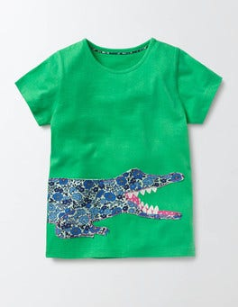Peppermint Cream Crocodile Jungle Patchwork T-shirt