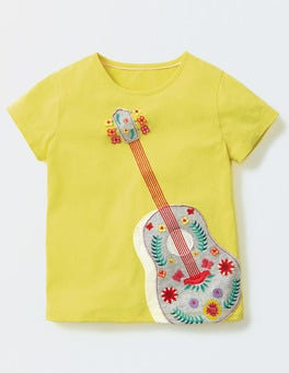 Pineapple Guitar Fun Appliqué T-shirt