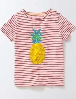 Ivory/Mid Pink Pineapple Fluttery Fruit T-shirt