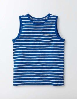 Island Sapphire/Ivory Stripe Stripy Holiday Vest